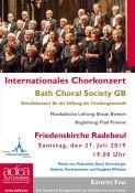 Bild zu Bath Choral Society – Internationales Chorkonzert Friedenskirche Radebeul