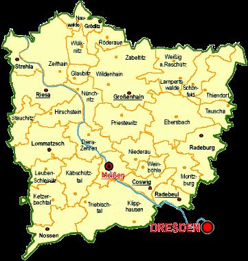 Karte Landkreis Meißen